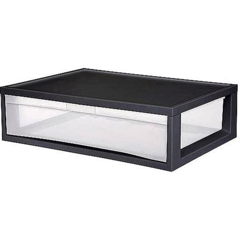 sterilite storage drawers sterilite large modular storage drawers set of 4 storage