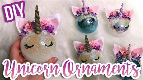 diy unicorn ornaments     unicorn ornament