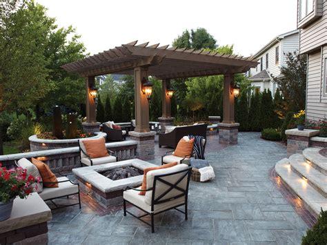 pergolas fireplace stone patio