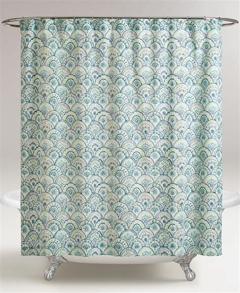 turquoise blue shower curtain olivia blue scalloped shower curtain everything turquoise