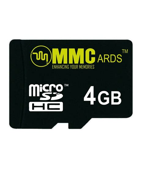mmc memory card 4gb memory cards at low prices snapdeal india