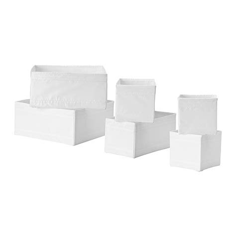 ikea skubb skubb box set of 6 white ikea
