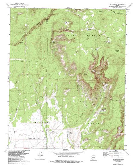 arizona topographical map matterhorn topographic map az usgs topo 35112a3