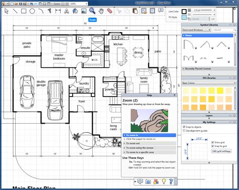 free floor plan drawing program autocad freestyle version software