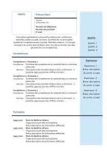 Curriculum Vitae Europass by Mod 232 Le De Cv Mixte N 186 2 Bleu Exemples De Cv
