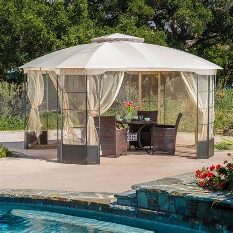 gazebo patio outdoor patio furniture steel canopy gazebo ebay