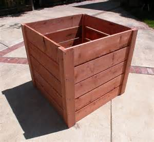 3x3x3 redwood planters garden craftsman compost bins
