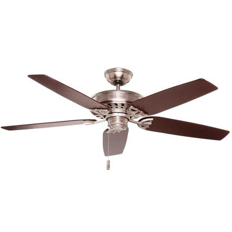 rustic ceiling fans home depot hton bay metro 54 in rustic copper indoor outdoor