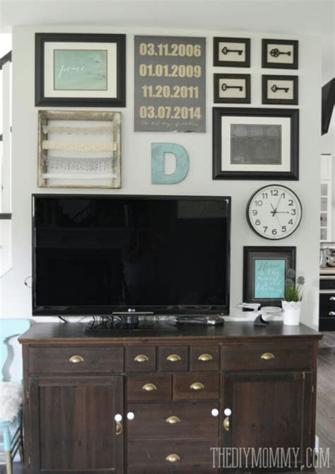 where to put tv our budget tv gallery wall the diy