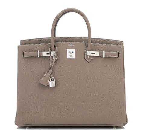 Richards And Hermes Birkin Bag by Hermes Birkin Bag 40cm Etoupe Togo Palladium Hardware