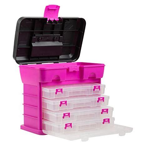 and crafts organizer the original pink box portable organizer 4 compartment
