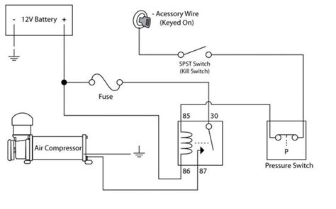 compressor pressure switch wiring diagram wiring diagrams