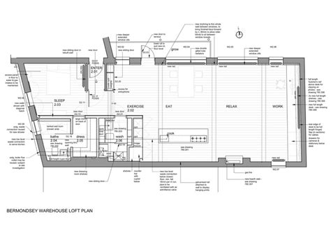 design a warehouse floor plan bermondsey warehouse loft apartment form design