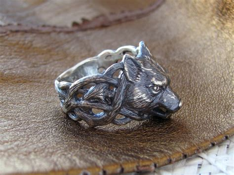 wolf ring silver wolf ring fenrir ring animal ring wolf