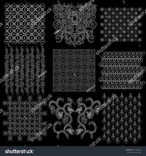 batik pattern collection java batik pattern collection stock vector illustration