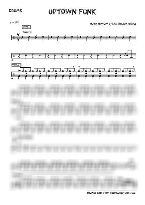 drum tutorial for uptown funk mark ronson bruno mars uptown funk drum sheet music