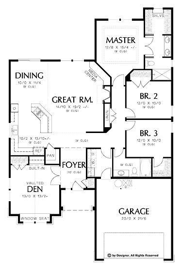 3 bedroom bungalow floor plans with garage house flooring home plans homepw02338 1 850 square feet 3 bedroom 2