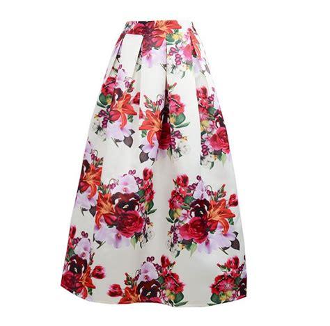 Flower Skirt Rok floral pleated skirt images