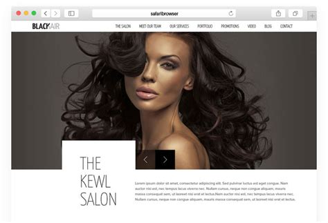 Blackair Html5 Template For Hair Salons Hair Salon Website Templates One Page Website Theme Hair Salon Website Design Templates Free