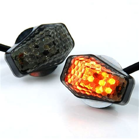 flush mount motorcycle lights motorcycle flush mount turn signals smoke lens led