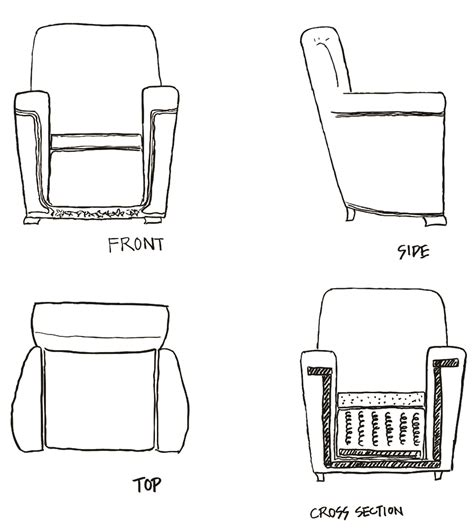 chair side view drawing assignment 2 3 visual expression ii 2d sketches v