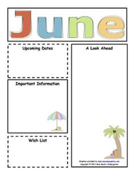 free monthly newsletter templates for teachers 1000 images about newsletter on preschool