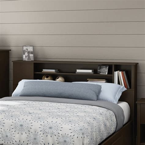 south shore headboard south shore fusion wood bookcase headboard in chocolate 9006a1