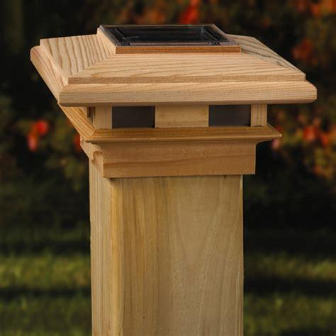 Solar Lights For 6x6 Posts Imperial Wood Solar Post Cap 4x4 6x6