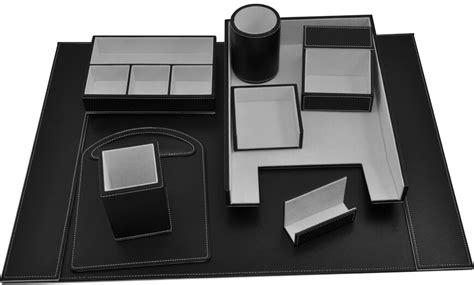 office desk stationery set luxury faux leather office desk set leather stationery set