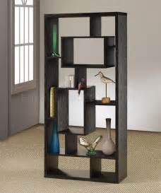 black finish modern bookcase w shelves display space