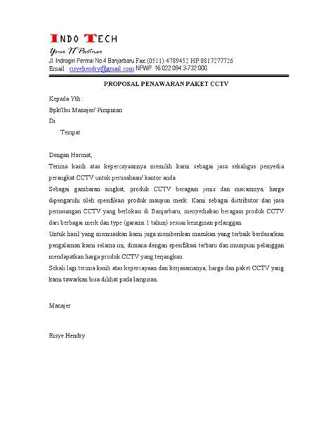 penawaran paket cctv