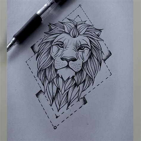 lion drawing pinteres