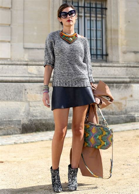 style black mini leather skirts  fashion