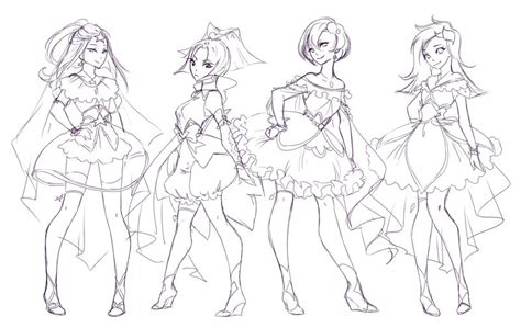 Magical Girls Regular Group Sketch By Rika Dono On