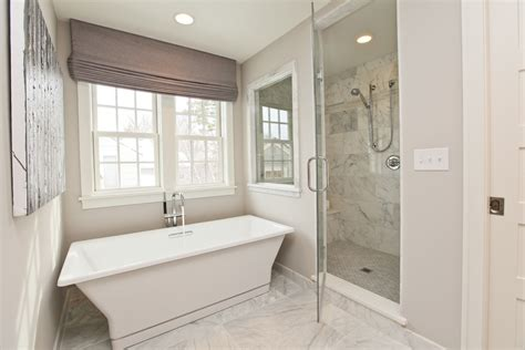 Master Bathroom With Tub Edina Home Sophisticated Casual Design Using