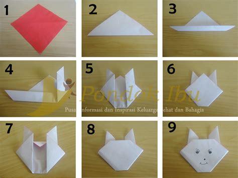 membuat origami sederhana untuk anak paud membuat origami kelinci
