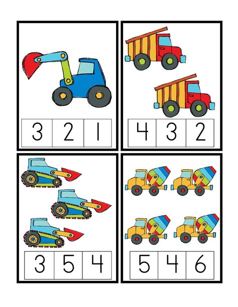 printable toddler games preschool printables construction vehicles matem 224 tiques