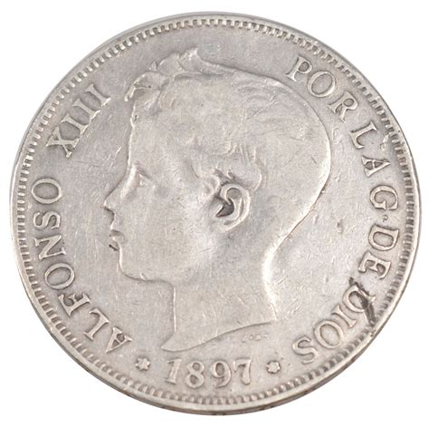 251502 espagne alphonse xiii 5 pesetas ttb 5 pesetas