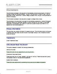 service level agreement sla template instant