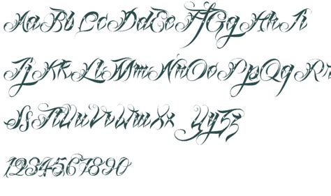 tattoo fonts preview fonts