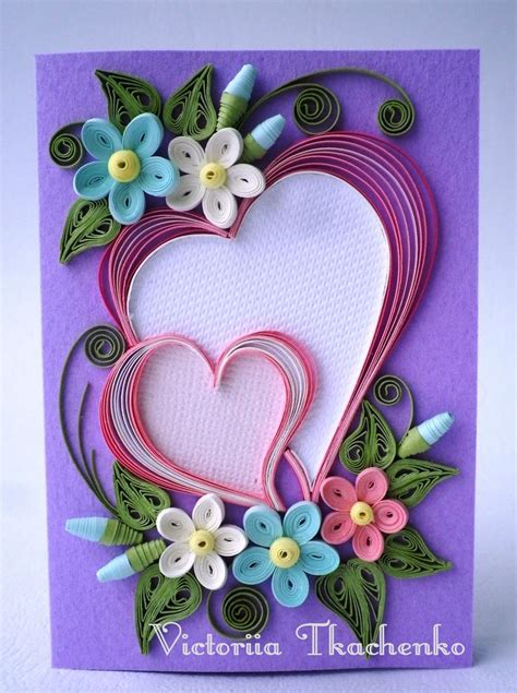 Quilling Paper Craft - quilling card s day quilling card