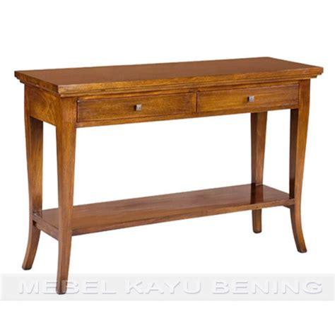 Meja Biro Bahan Kayu meja konsol kayu jati model minimalis delhi mebel kayu bening