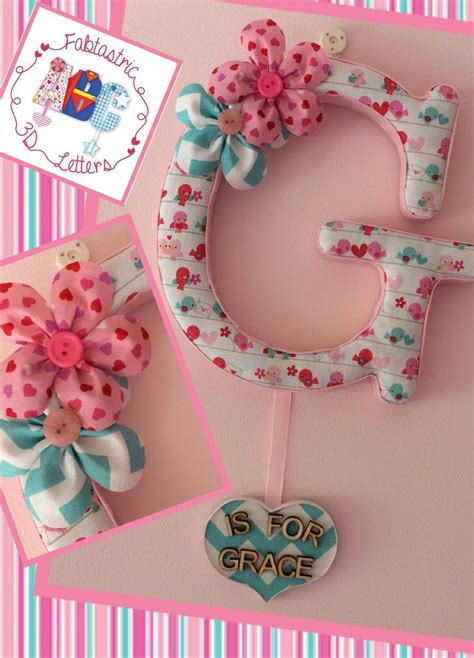 fabric covered letters for nursery fabric covered letter with name tag flowers birds