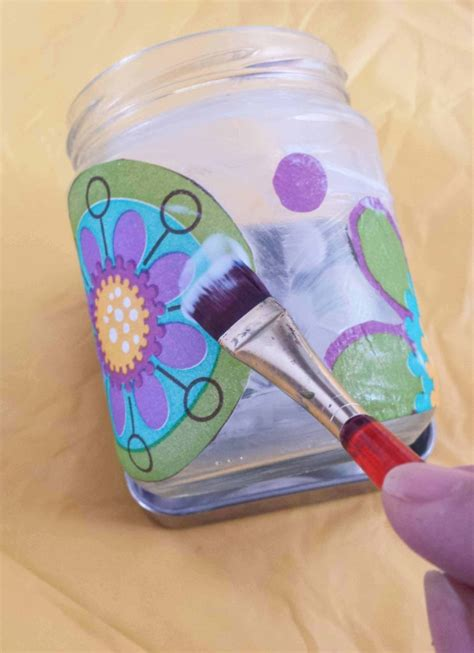 Decoupage On Glass Jars - how to make a salsa jam or pasta sauce glass jar
