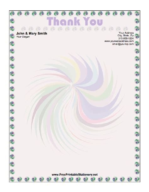 Thank You Note Stationery Template 9 Best Images Of Printable Thank You Stationery Thank You Letter Writing Paper