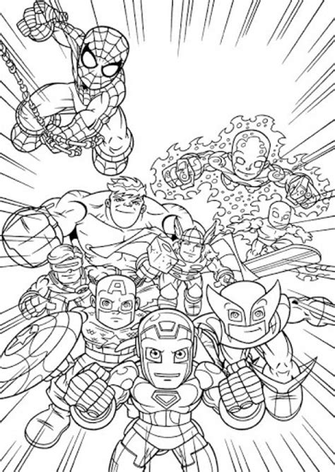 Marvel super hero squad coloring pages happysales info