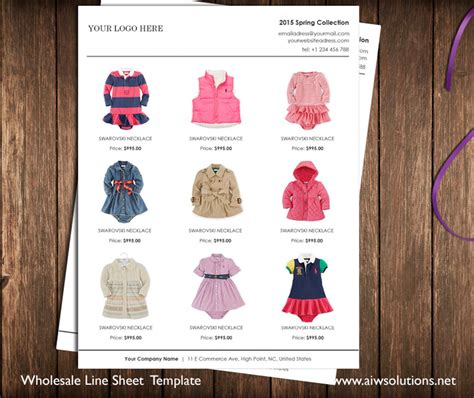 Wholesale Linesheet Template Line Sheet Template Product Brochure Minimalist Wholesale Sheet Clothing Catalog Template Free