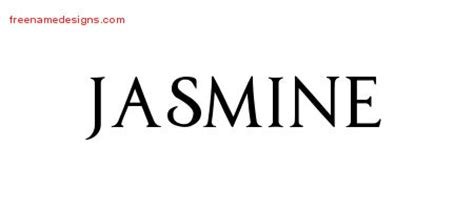 jasmine tattoo font regal victorian name tattoo designs jasmine graphic