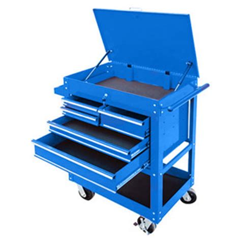 nesco products blue 5 drawer service cart