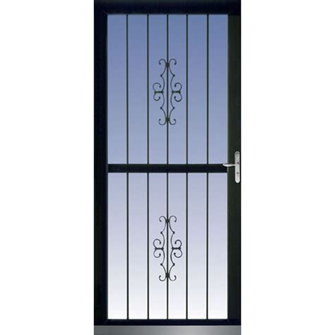 Glass Security Door Shop Larson Classic View Black View Tempered Glass Security Door Common 36 In X 81